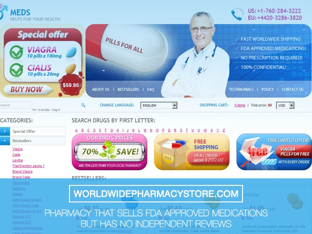 Worldwidepharmacystore.comReview - Pharmacy that Sells FDA Approved Medications But Has no Independent Reviews